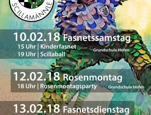 Greadeffele 2018 – Kartenvorverkauf Scillaball & Rosenmontag