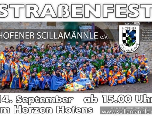 Scilla Straßenfest 14.09.2019 ab 15.00 Uhr